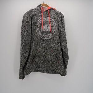 J.America Turtleneck Pullover Hoodie Sweatshirt